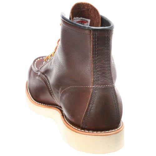 Red Wing Shoes 6 Classic Moc, Zapatos de cuero con cordones para hombre Brair Oil Slick