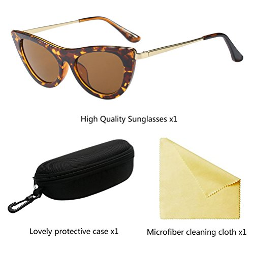 Señoras Nivel Clásico para de Sol de Brown Fiesta de Claridad Zhuhaitf Lentes Diseñador Gafas Vacaciones Alto Mujeres ATtqwOnw