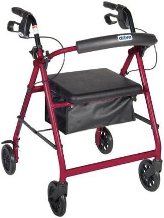 Amazon.com: Andador 4 Ruedas con bolsa y asiento acolchado ...