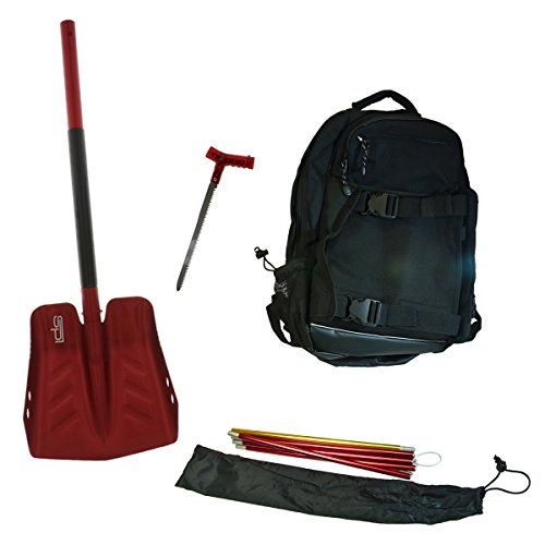 SPI Off-Trail Snowmobile Kit - Back Pack - Avalanche Probe - Shovel - Saw by SPI