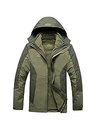Dnstar Men's 3in1 Fleece Hooded Windproof Climbing Jackets