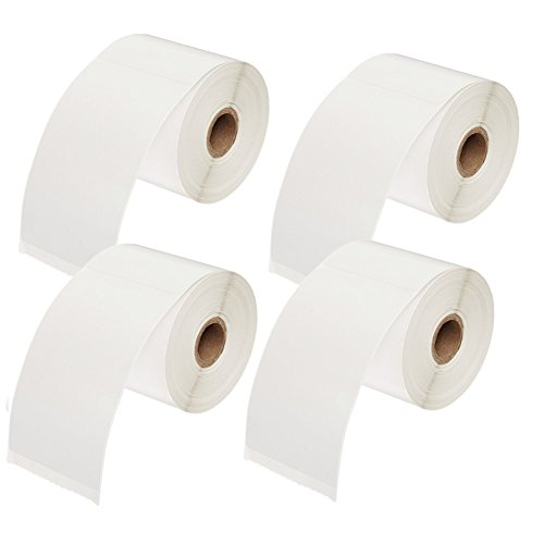 4 Rolls of 450 Labels 4x6 Direct Thermal Shipping Labels for Zebra 2844 ZP-450 ZP-500 ZP-505,Blank,1