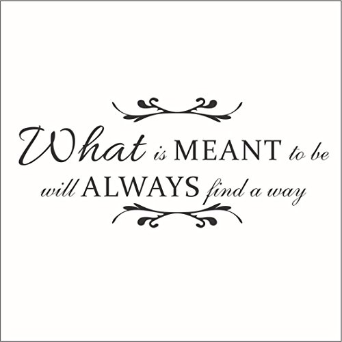 Omega What is Meant to Be Will Always Find a Way Vinyl Decal - Large - Mint]()