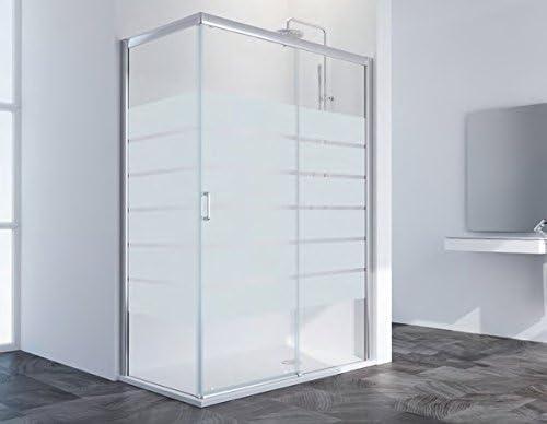 Mampara de ducha a tres paneles 1 fijo y 1 coulissants y 1 lateral ...