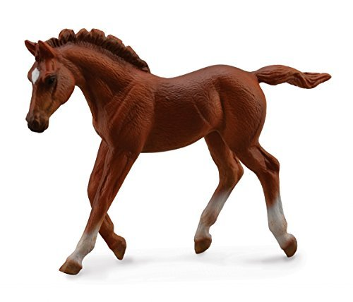 Collect A Horses Thoroughbred Walking Chestnut Foal Toy Figure by Collecta Getting Fit