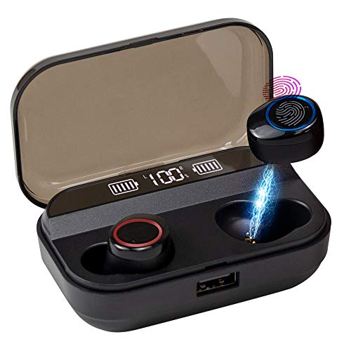 True Wireless Earbuds – Bluetooth 5.0 Wireless Earbuds with 3000mAh Charging Case LED Battery IPX7 Waterproof 90H Playtime in-Ear Bluetooth Headset True Wireless Earbuds for Running 2019 Version