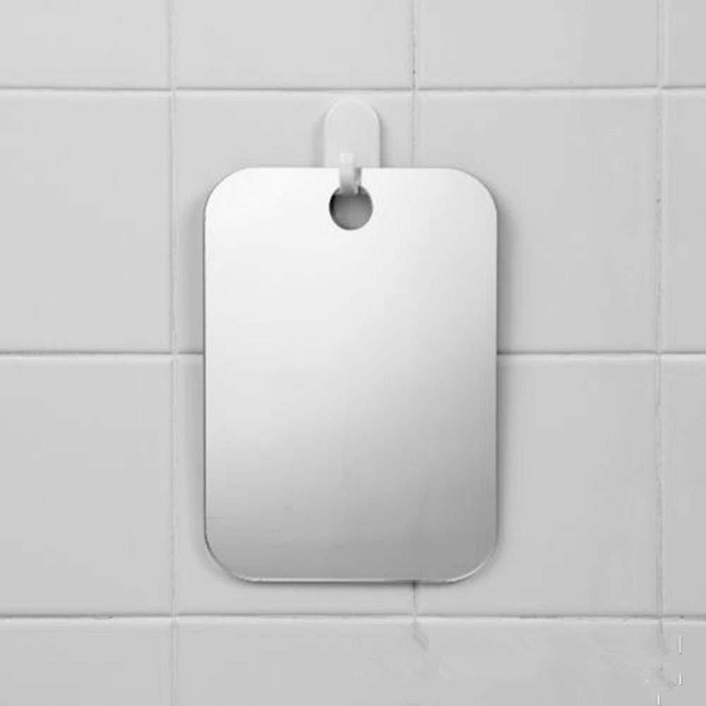 LIMITA Miroir de douche anti-bu/ée / Miroir sans bu/ée pour salle de bains Voyage de toilettes argent