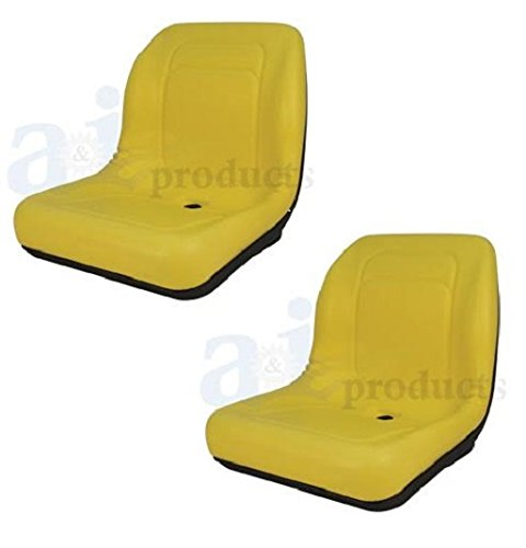 Set-of-2-High-Back-Seats-for-John-Deere-Trail-Worksite-amp-Turf-Gator-4X2 6X4 LGT100YL