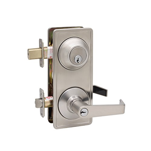 Copper Creek AL6941SS Avery Grade 2 Interconnect Entry, Satin Stainless Copper Handlesets Single Cylinder