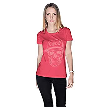 Creo Watermelon Coco Skull T-Shirt For Women - L, Pink