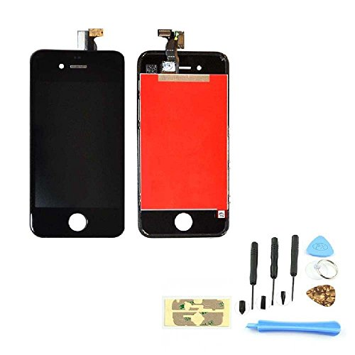 For Apple Iphone 4 4g (AT&T) Black Screen Glass Replacement Digitizer with Frame + LCD Assembly + 6 Piece Tool Kit