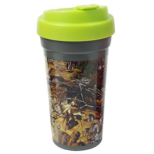 Cool Gear Coffee Realtree Travel Mug, 15 oz, Green Camo