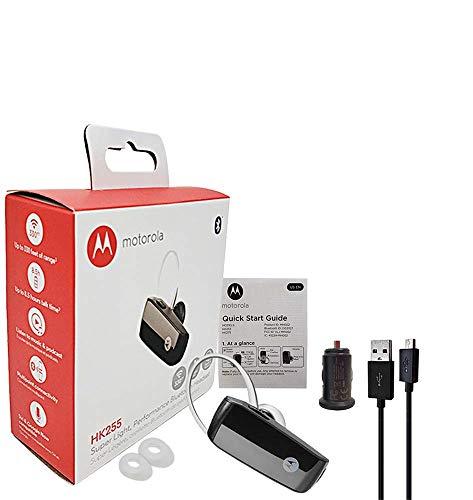 Motorola HK255 Super Light, Universal Bluetooth Wireless Headset & Music Stream with Car Charger (Retail Packing Kit)