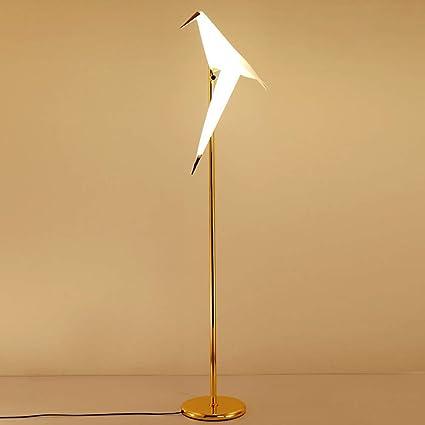 Lámpara De Pie LED Forma De Pájaro Lámpara Vertical Grúa De ...