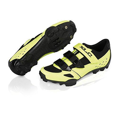 XLC scarpe mtb-cb-m06 giallo fluo 38 (Scarpe Mtb) / shoes mtb-cb-m06 neon-yellow 38 (Mtb Shoes)