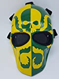 Airsoft Full Face Mask Army of two Cosplay Halloween mask Paintball RED HOOD Ghost Masks (Green)