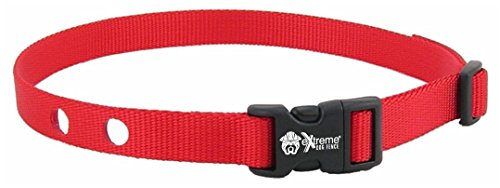 Extreme Dog Fence Dog Collar Replacement Strap - Red - Compatible with Pet safe and Invisible Fence Microlite (Red Collar Strap)