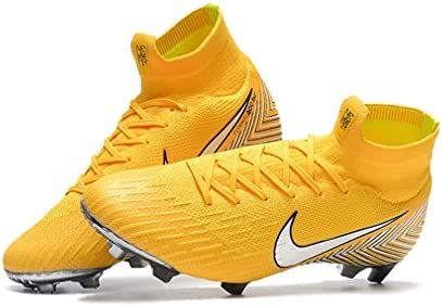 2465cc096f0 Amazon.com  Ninakova2018 Men s High Ankle Soccer Cleats Mercurial Superfly  360 Elite FG Neymar Jr Yellow (US 7 - EUR 40)  Sports   Outdoors