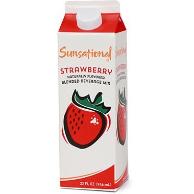 Sunsational Frozen Strawberry Concentrate 32 oz, Pack of 12 by Sunsational
