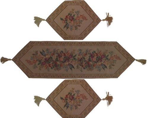 DaDa Bedding TR-3100 3-Piece Wildflower Wonderland Woven Table Runner, -
