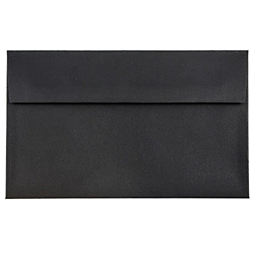 JAM PAPER A9 Premium Invitation Envelopes - 5 3/4 x 8 3/4 - Black Linen - 25/Pack