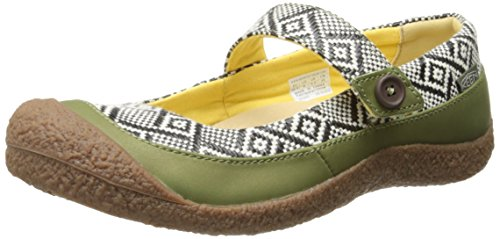 KEEN Women's Harvest MJ Button Casual Shoe, Loden Green/Black, 10 M US