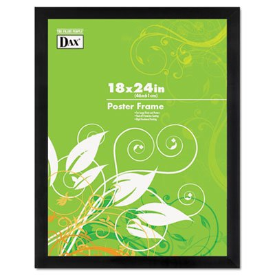 Black Solid Wood Poster Frames w/Plastic Window, Wide Profile, 18 x 24 (2 Pack)