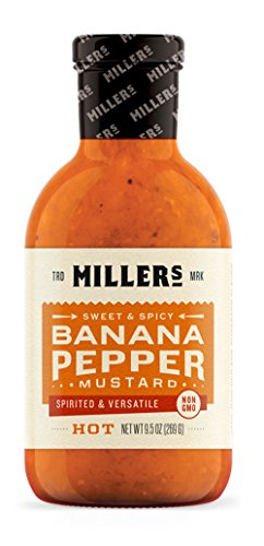 MILLERS MUSTARD Mustard Banana Pepper Hot, 9.5 ()