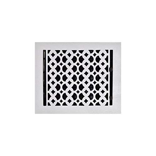 Cast Aluminum Floor Duct Vent - Handcrafted, Re-Paintable HVAC Floor Vent, Décor for Living Room, Floor Register 8