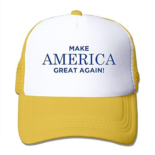 NO4LRM Adult's MAGA Make America Great Again Youth Mesh Baseball Cap Summer Adjustable Trucker -