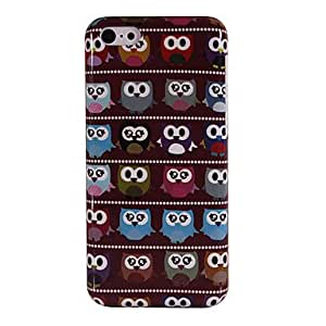 Cartoon Owls in Line Pattern PC Hard Case for iPhone 5C with Interior Matte