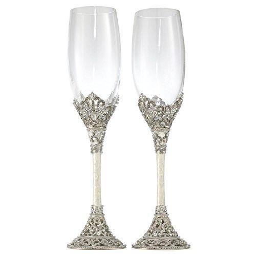 - Olivia Riegel Celebation Crystal Wedding Champagne Toasting Flute Glasses Set of 2