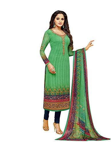 (Ladyline Womens Partywear Salwar Kameez Georgette Embroidered & Printed)