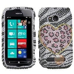 MYBAT Playful Leopard Diamante Phone Protector Cover comp...
