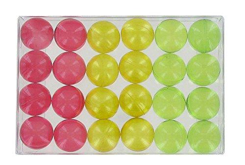 Box of 24 fantasy bath pearls - fruits trio S&B