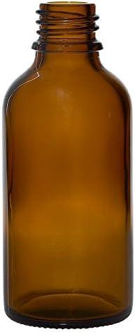 10x Apothekenfläschchen 50ml aus Braunglas mit schwarzem Tropfverschluss (Größe 1mm)