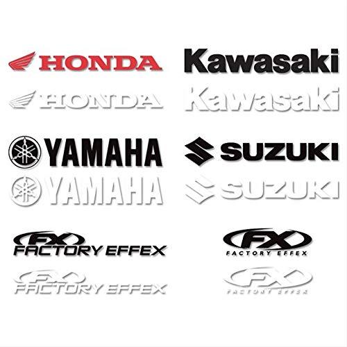 Die Cut Sticker - 1ft. Logo - Suzuki - White, Manufacturer: Factory Effex, SUZ 1' WH DIECUT STICKER - Logo Stickers Effex Factory