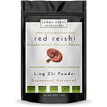Reishi Mushroom Extract Powder Standardized - 30% polysaccharides - 4 oz - Cedar Creek Essentials - Ling Zhi Tea - Immune System Booster