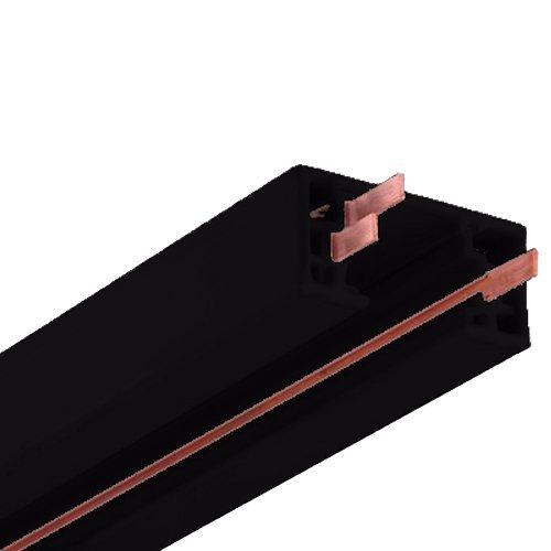 NICOR Lighting 8-Foot Track Rail Section, Black (10008BK) Linear Track Rail