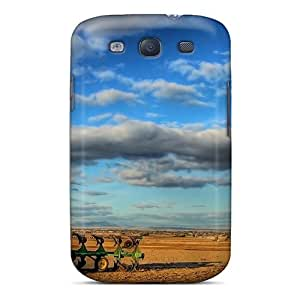 Defender Case With Nice Appearance (john Deere Tractor In Big Sky Country) For Galaxy S3
