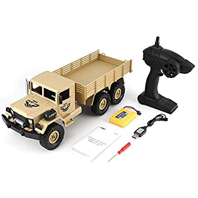 JJRC Q63 1/16 2.4G 6WD Long Battery Life Off-Road Crawler Remote Control Car yellow