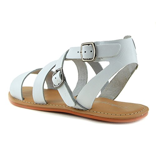 Scarpe Sandali Naturale Kick Casual Moda Bianco Footwear Cuoio Estate Donna Di yrYYfqO