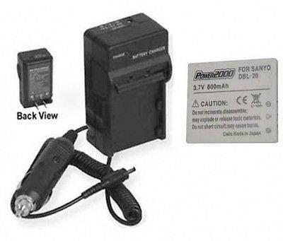 バッテリー+充電器for Sanyo vpc-ca6ex、Sanyo vpcca6ex、Sanyo vpcca8gx   B01DNAB458