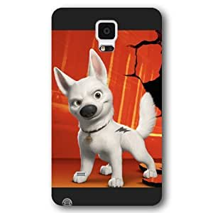 Customized Black Frosted Disney Cartoon Movie Bolt Samsung Galaxy Note 4 Case