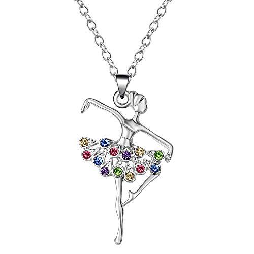 KAVNAR Little Girl Necklace Dancer Ballet Recital Gift Ballerina Dance Necklaces Girls Jewelry ...