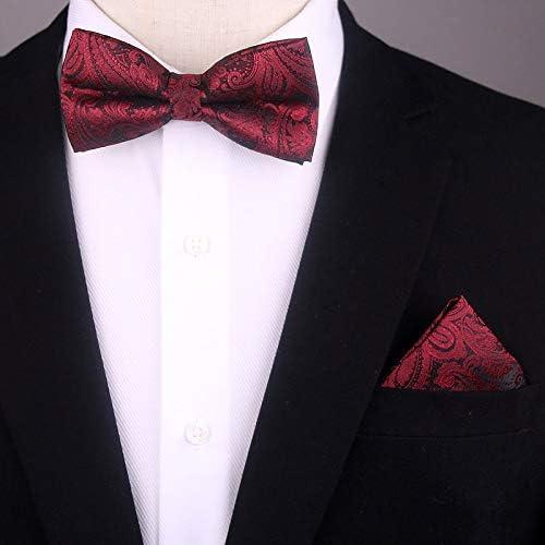 TiePjQE Pajaritas Corbata de lazo azul rojo para hombre Corbata de ...