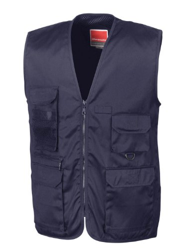 RESULT SAFARI GILET WAISTCOAT - 3 COLOURS (MIDNIGHT BLUE, L - 44')