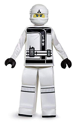 Disguise Zane Lego Ninjago Movie Prestige Costume, White,