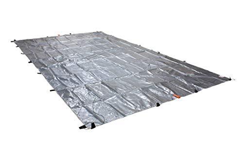 23' x 48' Heavy Duty 8oz Hay Tarps Silver Black 14.5 mil Waterproof