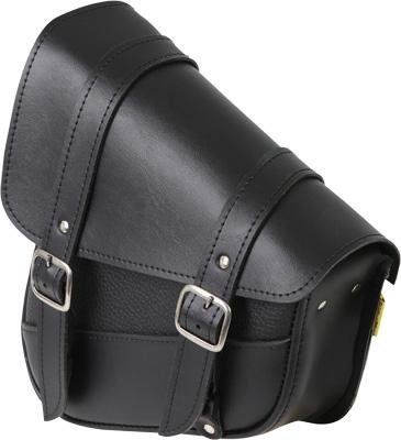 Dowco Universal Swing Arm Bag - 10.5in. x 11.5in. x 4.5in. - Black Synthetic Leather
